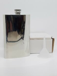 6oz Handcrafted Pewter Flask With High Polished Finish Made In Sheffield England