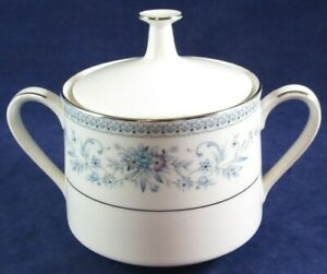 Noritake Blue Hill Sugar Bowl with Lid, 2482, Unused Condition!