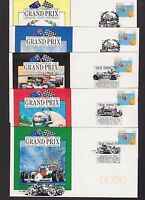 Australian Grand Prix Formula One Adelaide SA 1990 Set 5 Commemorative FDC Set