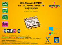 DELL DW1550 0TVFF3 minipci-express 802.11AC BT 4.0 867Mbps BCM4352 Hackintosh