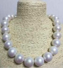 """18"""" Excellent Huge SOUTH SEA 13.5-15mm White pearl necklace 14K GOLD CLASP"""