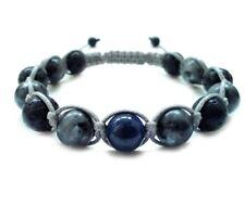 Men's stone bracelet 10mm Labradorite Lapis Lava beaded shamballa wristband cuff