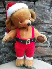 """Large vintage Merrythought Cheeky mohair teddy bear, label, bells, 1960s, 26"""""""