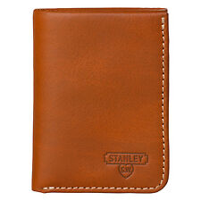 Stanley Tools - Tan Tri-Fold Leather Wallet in Silver Metal Presentation Tin