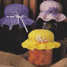 Crochet Pattern ~ Jar Bonnets Covers ~ Instructions
