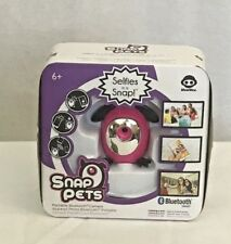 WowWee Snap Pets Camera Portable Bluetooth Selfies Pictures Pink Black Ages 6+
