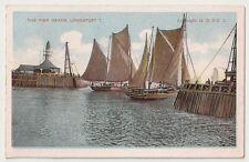 The Pier Heads, Lowestoft Suffolk Boats Vintage Postcard