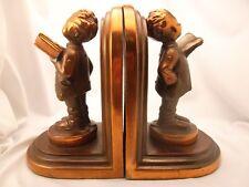 Pair Bronze ? Clad Bookends - Sgn'd B.Hummel Herbert Dubler ~ Soloist ?