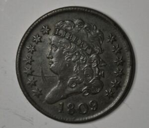 1809 Classic Half Cent W389