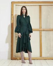 Anna Mason - Stella ruffled Wool-Crepe Wrap Dress - New Tagged - SIZE 10 rrp£800