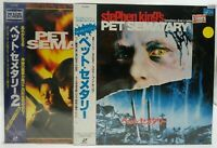 Japan LD Laserdisc PET SEMATARY 1 2 Set Stephen King's Obi Movie LD68