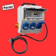 TABLEAU PROTECTION  / COFFRET DE CHANTIER ELECTRIQUE NEUF 250V NEUF  //