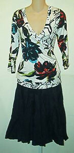 Lynn Ritchie NWT $248  Floral Top & Pleated Skirt  Outfit  2