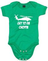 Get To The Choppa Alternate, Predator inspired Kid's Printed Baby Grow Bodysuit