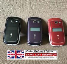 Doro 615/410/622/624 Easy Phone Flip - Black/RED (Unlocked) Camera Mobile Phone