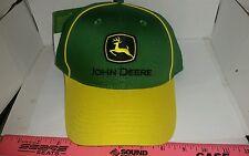 JOHN DEERE GREEN & YELLOW Twill piping trucker CAP HAT BRAND NEW free shipping!