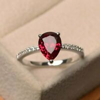 925 Sterling Silver Natural Certified 5 Ct Ruby Handmade Engagement Ring For Her