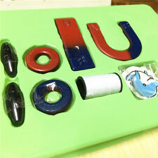 Horseshoe Magnet + Ring Magnet Toy Magnets Field Teaching education Tool Set