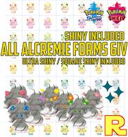 ALL 70 ALCREMIE 6IV Pack Bundle ⚔️ 63 + 7 SHINY 🛡 POKEMON SWORD & SHIELD