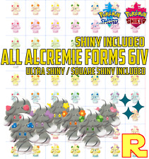 ALL 70 ALCREMIE 6IV Pack Bundle ?? 63 + 7 SHINY ?? POKEMON SWORD & SHIELD