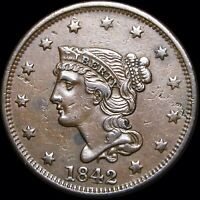 1842 Braided Hair Large Cent  ---- NICE Details Type Coin  ----- #D061