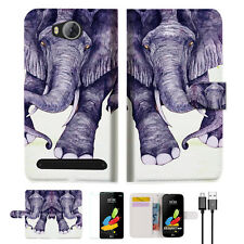 Elephant Wallet TPU Case Cover For HUAWEI Y3 II 2 -- A007