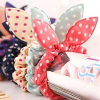 10X Girls Women Cute Rabbit Ear Hair Tie Rope Scrunchie SALE Ponytail New