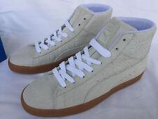 Puma Suede Mid Emboss FA 36223902 White Gum Sneakers Shoes Men's 9 Skate Futbol