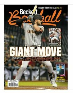 Used October 2021 Beckett Baseball Card Price Guide Magazine With Kris Bryant