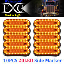 10X Amber 20LED Side Marker Indicator Light Lamp Caravan Truck Trailer Lorry 24V