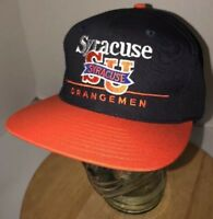 Vintage SYRACUSE ORANGEMEN 90s Twins Enterprises Hat Cap Snapback NCAA Bar Line