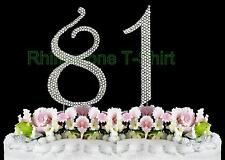 NEW Large Rhinestone  NUMBER (81) Cake Topper 81th Birthday Party Anniversary