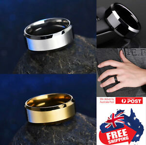 Titanium Stainless 8mm High Polished Men Women Wedding Band Comfort Ring 1pc
