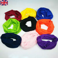 Face Warmer Mask Neck Tube Scarf BIKE Ski Snood Balaclava Bandana Plain sky