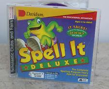 Davidson * Spell It Deluxe * Software ~ Over 4000 Words ~ Windows ~ Mac