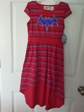 Dc Super Hero Batgirl Little Girls Short Sleeve HiLo Maxi Dress 6-6x