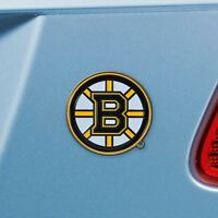 Boston Bruins Heavy Duty Metal 3-D Color Auto Emblem