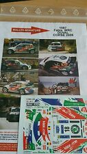 Decals 1/18 réf 1087 Skoda Fabia WRC DUVAL Tour de Corse 2006