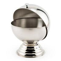 Roll-Top Sugar & Garnish Bowl - 20 oz - Stainless Steel - Bar/Pub Cocktail Tools