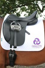 "CAVALETTI collection réglable selle de dressage 16.5"" Noir-Ex Démo"
