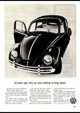 """1963 VOLKSWAGEN VW BEETLE AD A2 CANVAS PRINT POSTER FRAMED 23.4""""x16.5"""""""