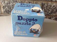 Vintage DOPPIO PUZZLE 2 I Cubi Di Calimero Eg Factory Sealed Sigillato
