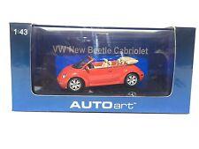 AUTOART VOLKSWAGEN NEW BEETLE CABRIO AUTOART VW  1:43 SCALE
