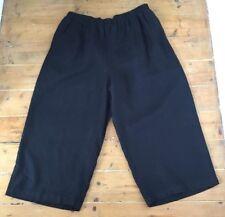 Fabulous yoek (Box 2) noir Heavy Linen Lagenlook pantalon raccourci Taille 46 (XL)