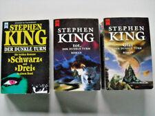 Stephen King Der dunkle Turm Teil 1 - 4 Schwarz Drei Tot Glas Taschenbuch
