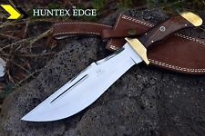 "HUNTEX Handmade J2 Steel 14"" Long Walnut Wood Full Tang Hunting Bowie Knife"