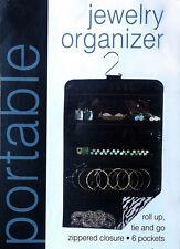 Hanging Jewelry Organizer 6 pockets Bedroom Closet Zippered Display Holder