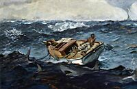 The Gulf Stream by Winslow Homer. Boat Art Repro Made in U.S.A Giclee Prints