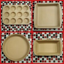 New listing Pampered Chef Stoneware Family Heritage Classic Collection Muffin Bread Pie Pan