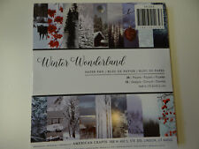 WINTER PATTERNED PAPER STACK 6X6 CHRISTMAS CARDS SCRAPBOOK CRAFTS